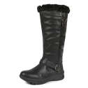 DREAM PAIRS Womens Winter Fully Fur Lined Zipper Closure Snow Knee High Boots