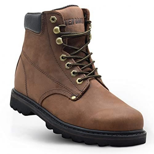 EVER BOOTS Tank Mens Soft Toe Oil Full Grain Leather Work Boots Construction Rubber Sole