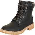 Forever Womens Broadway-3 Lace-up Combat Style Ankle-High Low Heel Boots