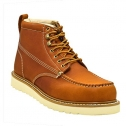 Golden Fox Work Boots 6″ Men's Moc Toe Wedge Comfortable Boot for Construction