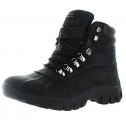 Kingshow Mens Warm Waterproof Winter Leather High Height Snow Boot