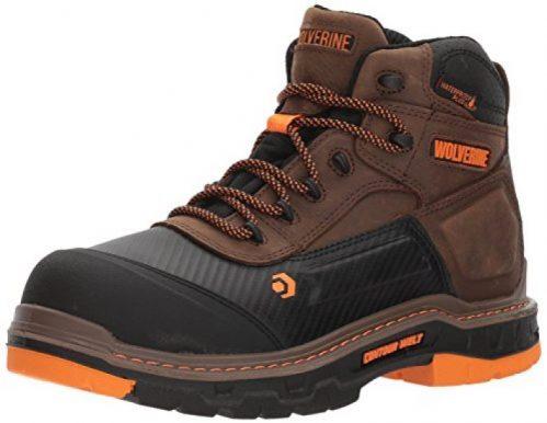 WOLVERINE Men's Overpass 6″ Composite Toe Waterproof Insulated Work Boot